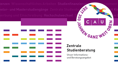 Titelbild: Infoflyer: Die Zentrale Studienberatung an der Christian-Albrechts-Universität zu Kiel