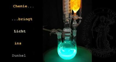 Chemischer Versuchsaufbau
