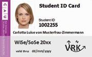 CAU Card nach der Validierung. Auf der Karte ist nun das aktuelle Semester vermerkt. Somit kann sie als Semesterticket genutzt werden.