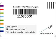 Abbildung der Rückseite der CAU Card