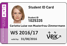 The picture shows the front of the CAU Card