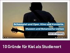 Link zum Video: 10 Gründe für Kiel als Studienort
